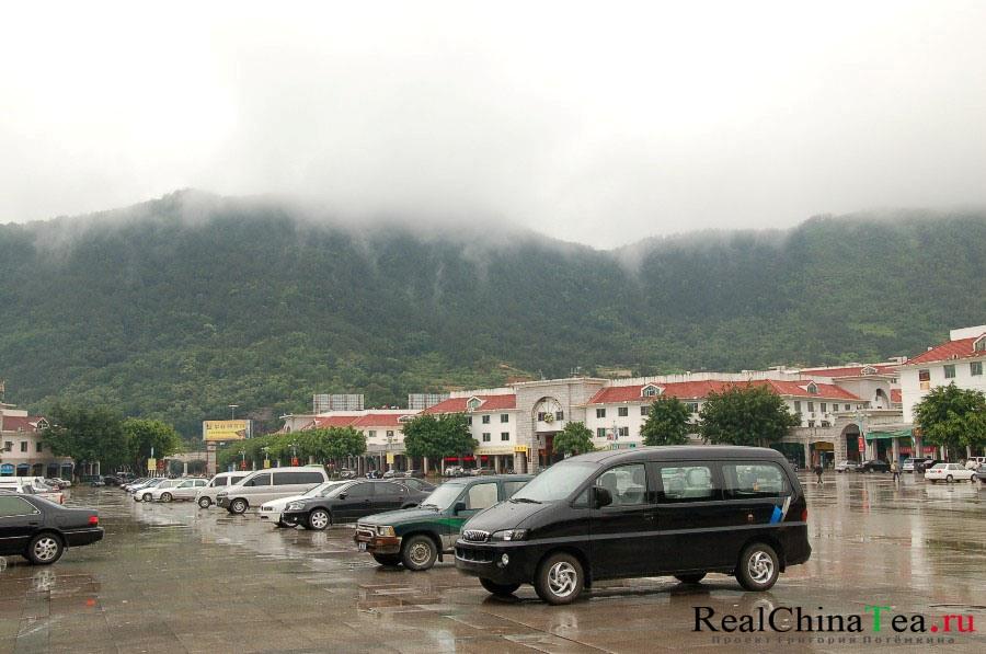 Рыночная площадь города Аньси, Китай.