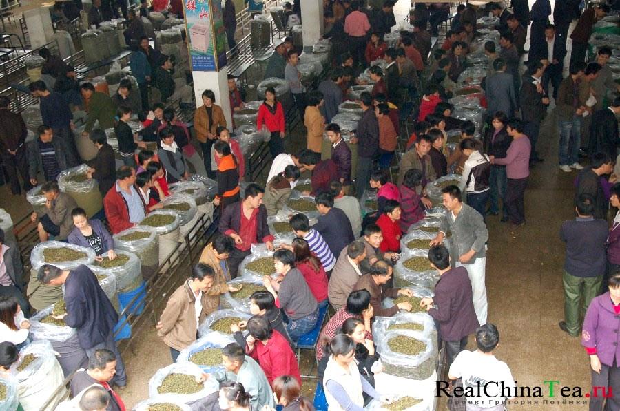Торговля чаем в Китае