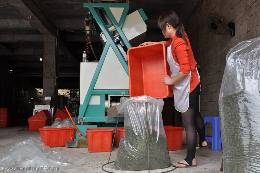 Так выглядит автоматический сортировщик чая Тегуаньинь.