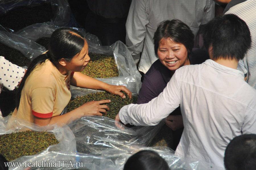 Чайный рынок в Китае