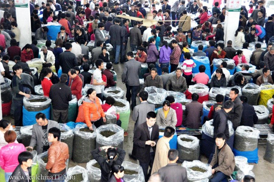 Настоящий замес на чайном рынке Аньси в разгар весеннего сбора