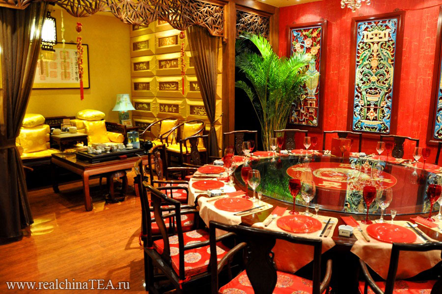 Отдельные шикарные кабинеты в чайной Лао Шэ