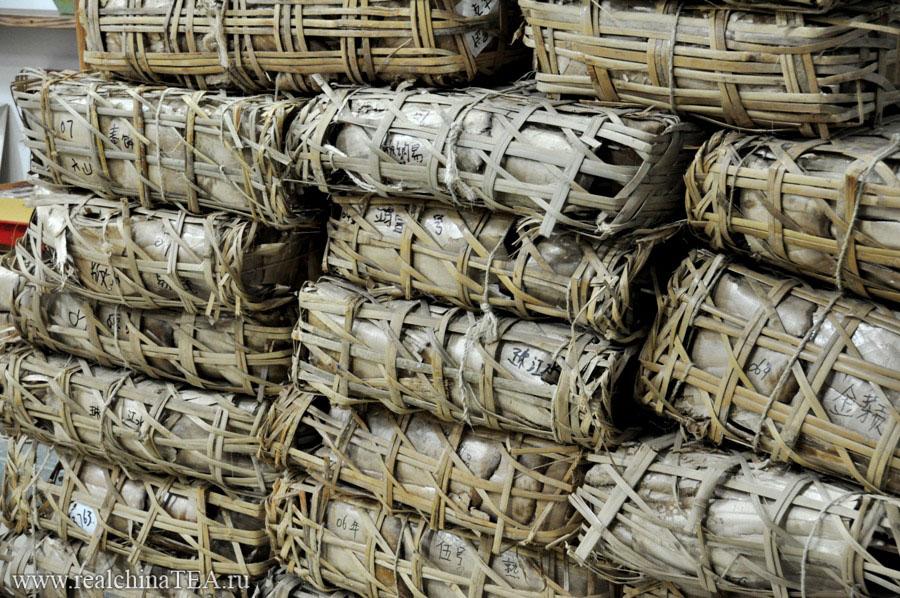 Большие плетеные корзины для длительного хранения Пуэра