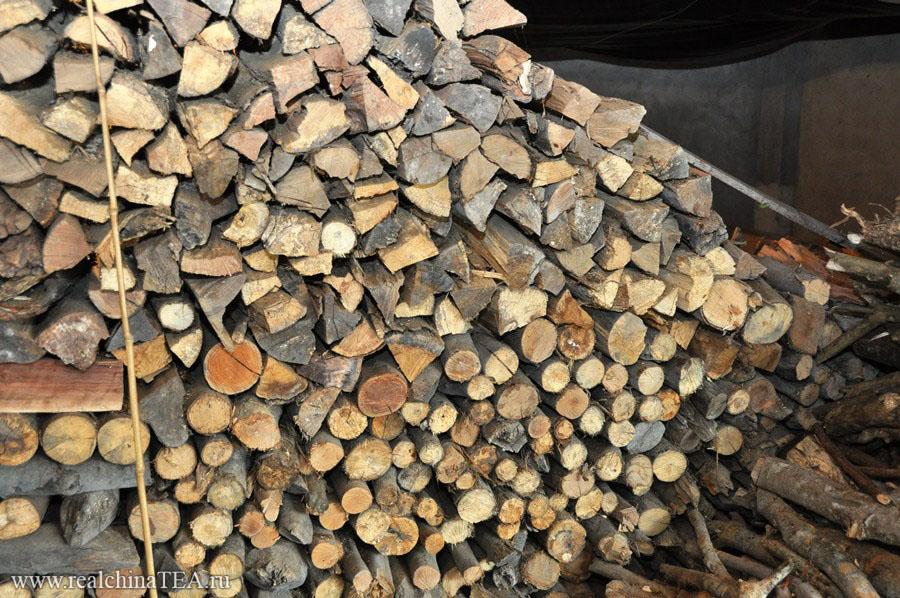 И вот такие настоящие дрова.