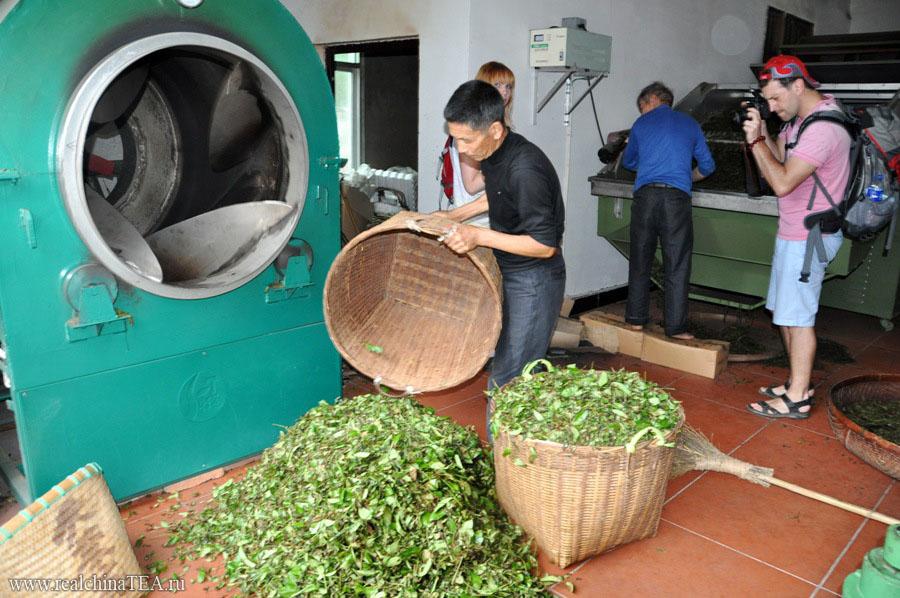 Мануфактура по производству чаев в Уишане.