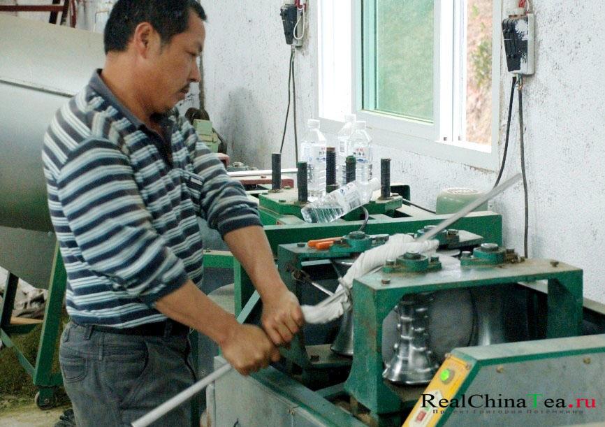 Как обрабатывают чай Те Гуанинь