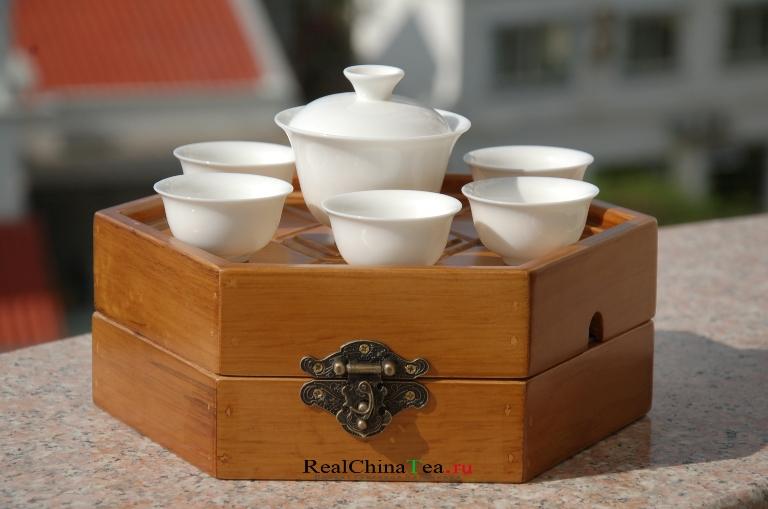 Круглый поднос для чайной церемонии