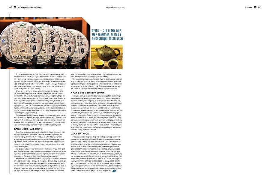 """Статья для журнала """"Банзай"""" про юньнаньские Пуэры. www.realchinatea.ru"""