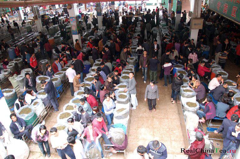 Чайный рынок в Аньси
