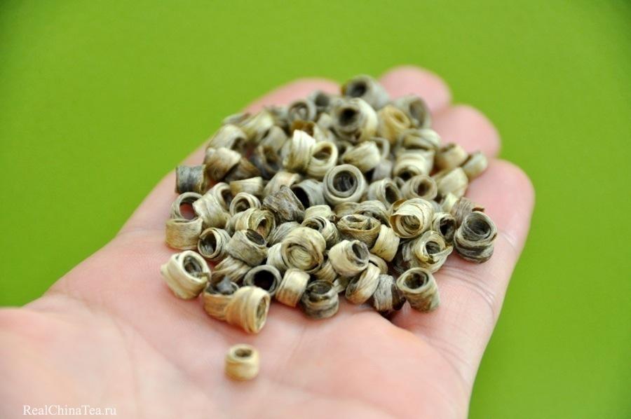 Зеленый чай из провинции Юньнань. Зеленые кольца. www.realchinatea.ru