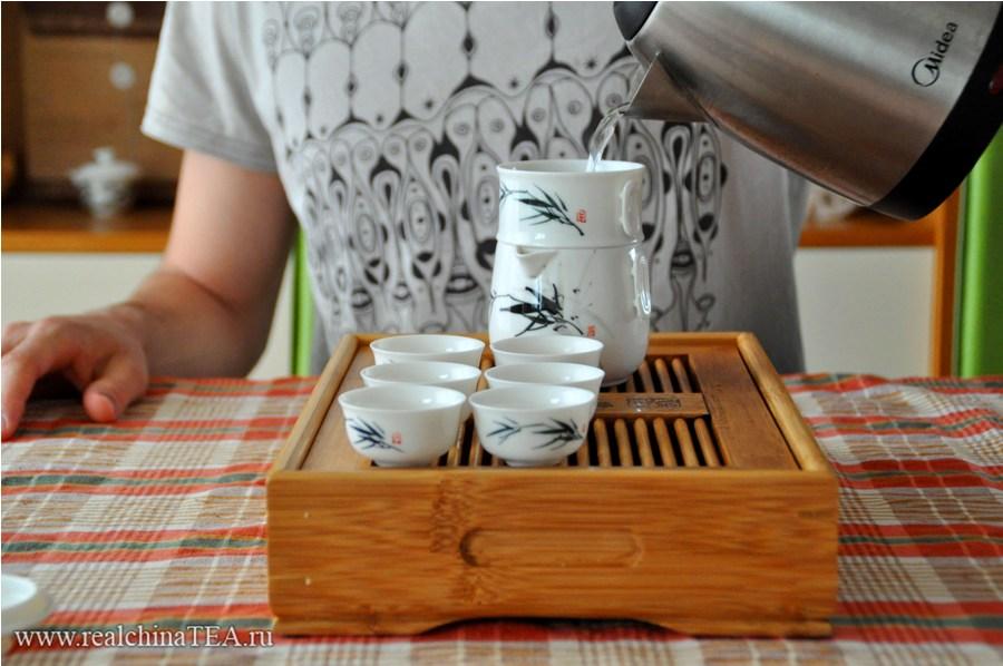 Как заваривать чай в японском наборе www.realchinatea.ru