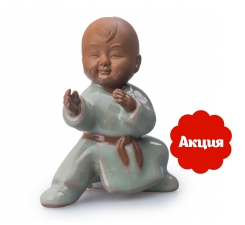 Фото Мальчик Кунг-фу. Глиняная фигурка